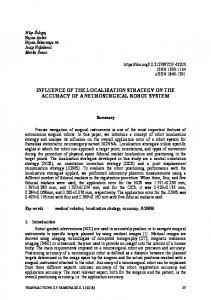 influence of the localization strategy on the accuracy of a ...