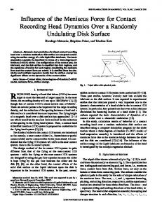Influence of the meniscus force for contact recording ... - IEEE Xplore