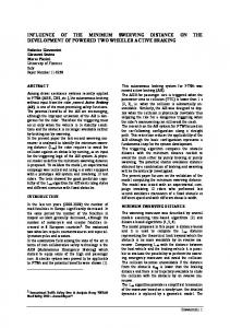 influence of the minimum swerving distance on the development of ...