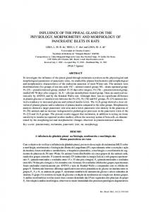 influence of the pineal gland on the physiology, morphometry ... - SciELO