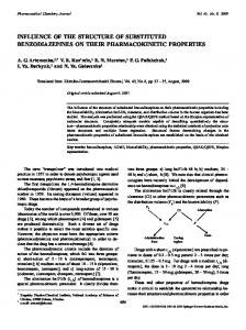 influence of the structure of substituted benzodiazepines on their ...