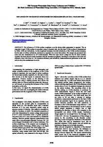 Influence of the Surface Roughness on CIGS-Based Solar Cell ...