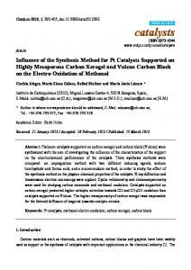 Influence of the Synthesis Method for Pt Catalysts Supported ... - MDPI