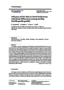 Influence of the Task on Hand Preference: Individual ...
