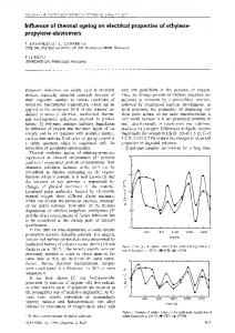 Influence of thermal ageing on electrical properties of ... - Springer Link
