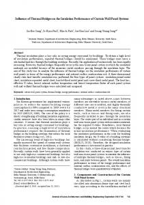 Influence of Thermal Bridges on the Insulation Performance ... - J-Stage