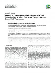 Influence of Thermal Radiation on Unsteady MHD Free Convection