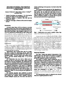 influence of thermal treatment on mechanical properties of activated
