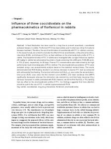 Influence of three coccidiostats on the pharmacokinetics of ... - J-Stage