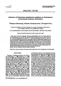 Influence of trimethoxy-substituted positions on fluorescence of