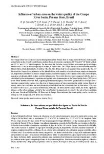 Influence of urban area on the water quality of the Campo ... - SciELO