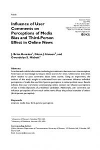Influence of User Comments on Perceptions of Media ... - SAGE Journals