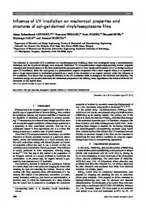 Influence of UV irradiation on mechanical properties and ... - J-Stage
