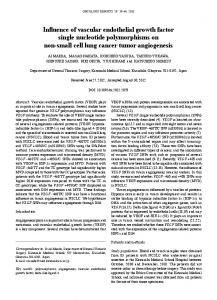 Influence of vascular endothelial growth factor single ... - BioMedSearch