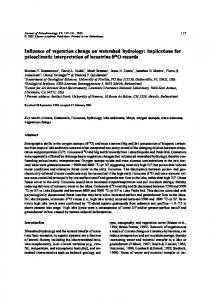 Influence of vegetation change on watershed hydrology ... - CiteSeerX