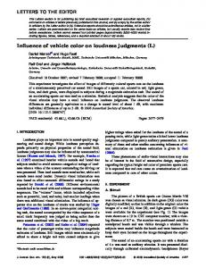 Influence of vehicle color on loudness judgments (L) - mediaTUM
