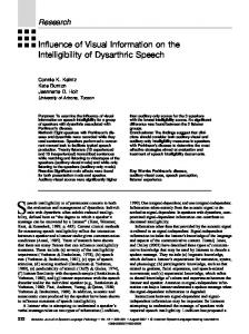 Influence of Visual Information on the Intelligibility