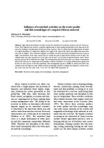 Influence of watershed activities on the water quality and fish ...