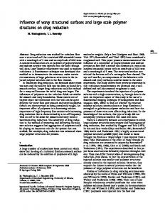 Influence of wavy structured surfaces and large scale polymer ...