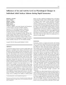 Influences of Sex and Activity Level on Physiological Changes in ...