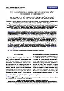 Influencing factors on postoperative hospital stay ... - KoreaMed Synapse