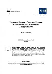 informal elderly care and female labour force participation across europe