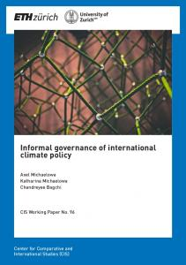 Informal governance of international climate policy