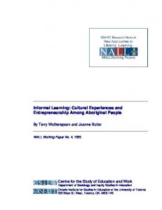 Informal Learning: Cultural Experiences and ... - CiteSeerX
