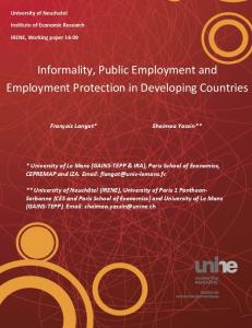 Informality, Public Employment and Employment Protection in ...