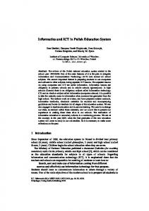 Informatics and ICT in Polish Education System