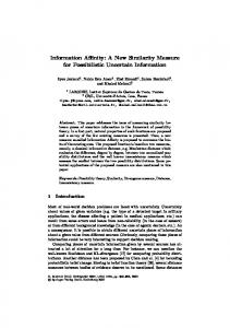 Information Affinity: A New Similarity Measure for