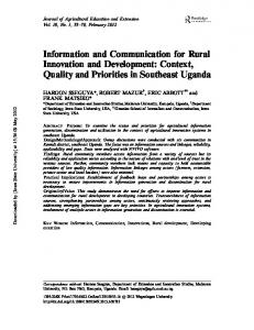 Information and Communication for Rural