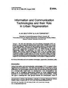 Information and Communication Technologies and ... - Alan Southern