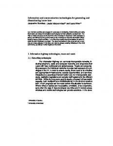 Information and communication technologies for