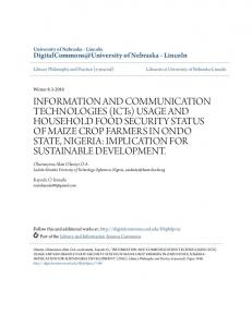 INFORMATION AND COMMUNICATION TECHNOLOGIES (ICTs ...
