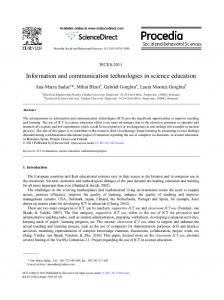 Information and communication technologies in ... - Science Direct