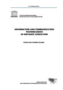 information and communication technologies in ... - unesco iite
