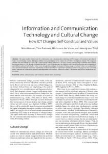 Information and Communication Technology and ... - APA PsycNET
