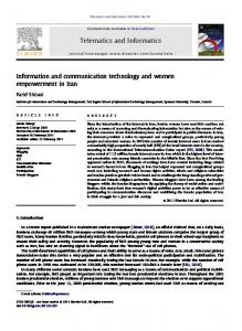 Information and communication technology and ... - Semantic Scholar