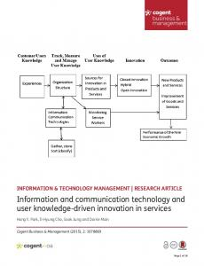 Information and communication technology and user ...