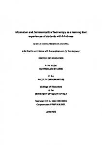 Information and Communication Technology as a learning tool ...