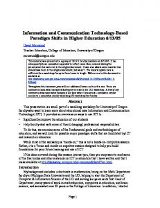 Information and Communication Technology-Based