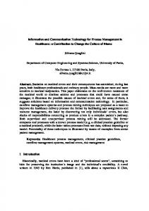 Information and Communication Technology for ...