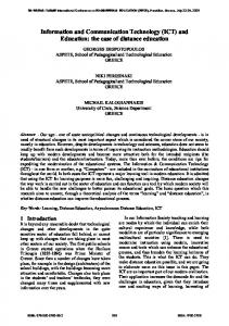 Information and Communication Technology (ICT) and Education: the ...