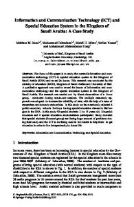 Information and Communication Technology (ICT) and Special ...
