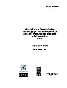 Information and Communication Technology (ICT) - CEPAL - Repositorio