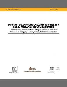 information and communication technology (ict) in ...