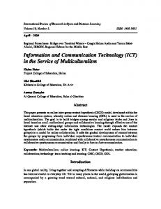 Information and Communication Technology (ICT) in the Service of ...