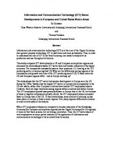 Information and Communication Technology (ICT) Sector ... - Urenio