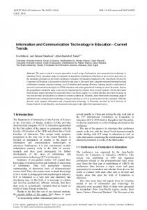 Information and Communication Technology in Education - Current ...